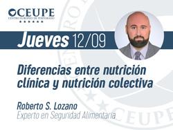 Diferencias entre nutrición clínica y nutrición colectiva