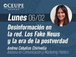 Desinformación en la red. Los Fake News y la era de la postverdad.
