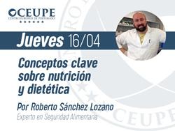 Conceptos clave sobre nutrición y dietética