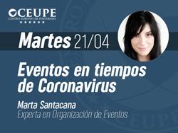 Eventos en tiempos de Coronavirus