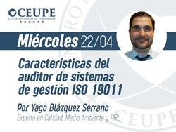 Características del auditor de sistemas de gestión ISO 19011