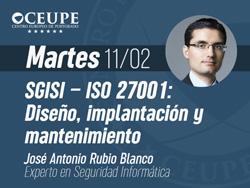 SGISI – ISO 27001: Diseño, implantación y mantenimiento