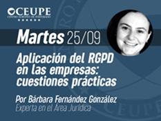 Aplicación del RGPD en las empresas: cuestiones prácticas