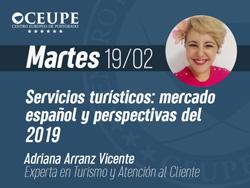 Servicios turísticos: mercado español y perspectivas del 2019