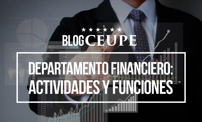 El Departamento Financiero Actividades Y Funciones