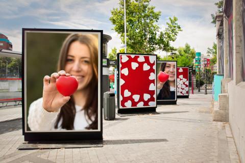 Campaña de publicidad en la calle