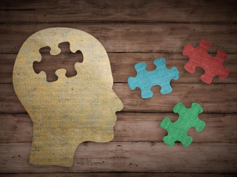 Mente humana en forma de puzzle
