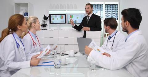 Reunión de gerencia sanitaria