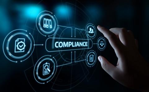 Símbolo de corporate compliance
