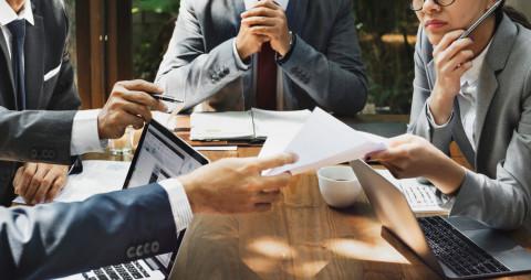 Reunión de trabajo en una empresa