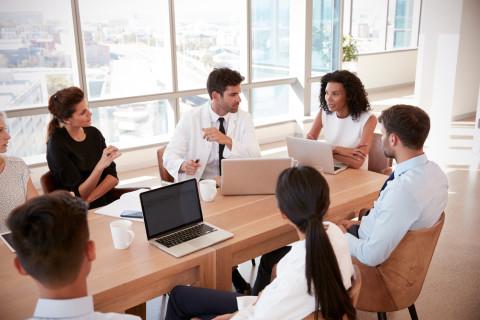 Equipo de un Máster en Gestión Directiva de Salud
