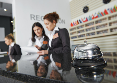 Recepción de hotel