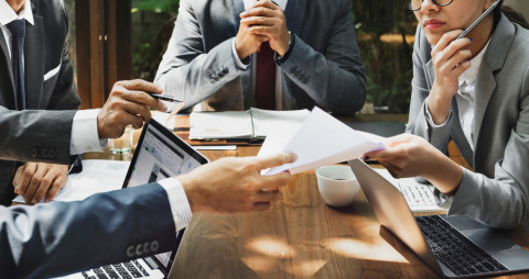 Reunión de directivos de empresa