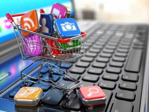 Símbolo de compras online