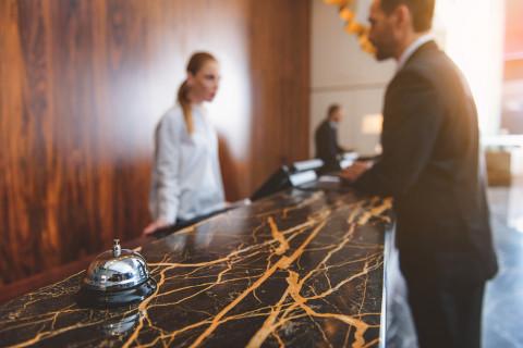 Recepción de un hotel