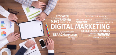 Símbolo de marketing digital