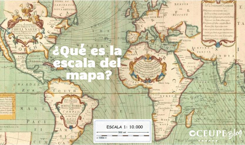 Qué es la escala del mapa?