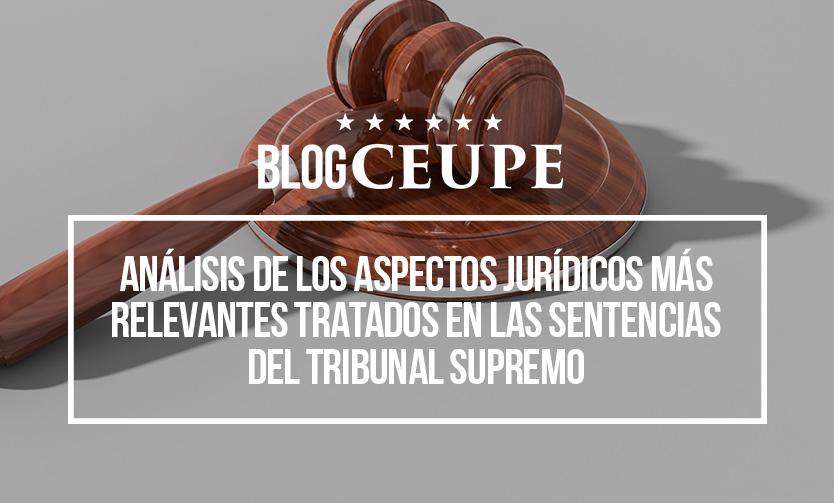 Análisis De Los Aspectos Jurídicos Más Relevantes Tratados En