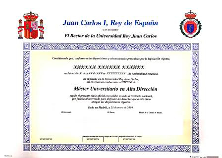 TITÚLO OFICIAL MÁSTER UNIVERSITARIO. UNIVERSIDAD REY JUAN CARLOS
